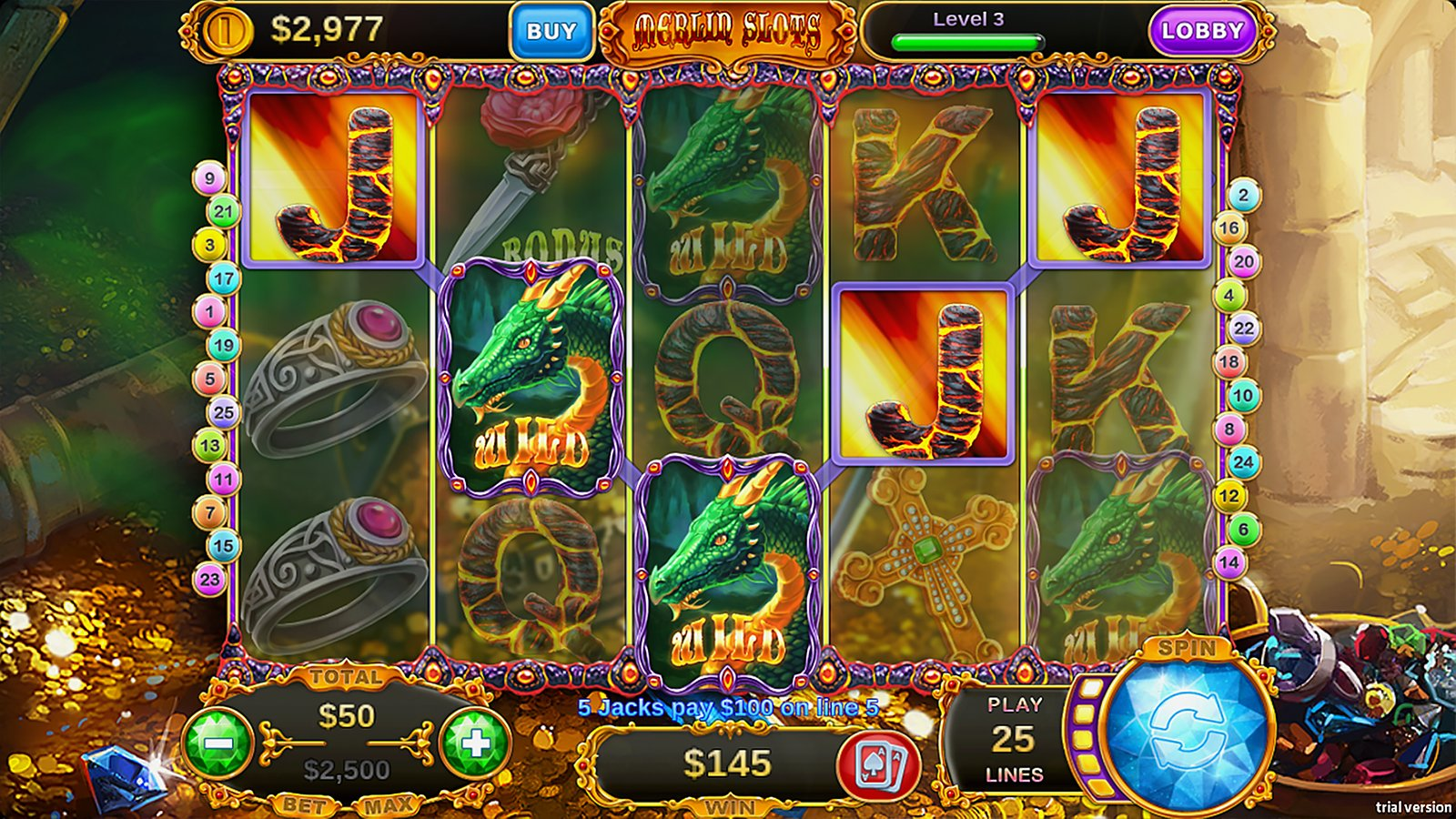 Merline Slots Magic Jackpot Screenshot
